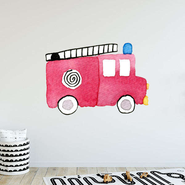 Large Fire Truck Wall Decal