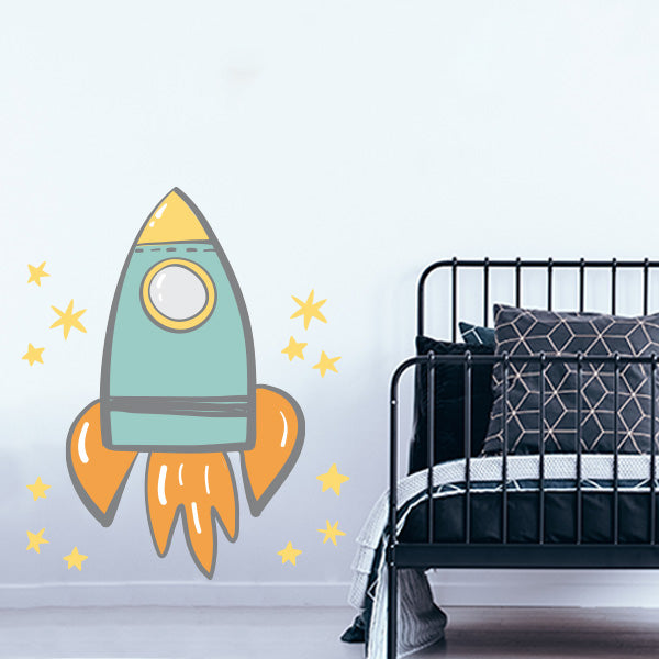 Large Rocket Wall Decal