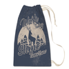 Moonlight Deer Laundry Bag in Cream Back View