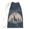 Moonlight Deer Laundry Bag in Cream Front View