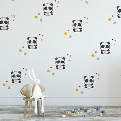 Panda Love Wall Decal Set