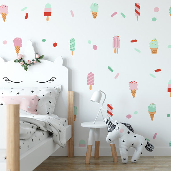 Ice Cream Delight Wall Decal set
