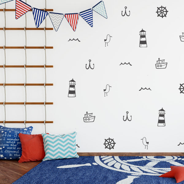Nautical Wall Decal Set