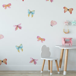 Watercolor Butterfly Decals