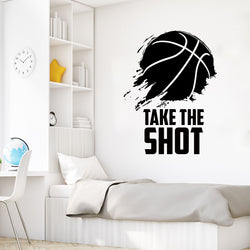Take the Shot Basketball Wall Decal