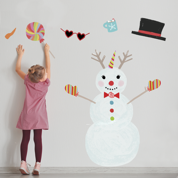 Snowman Wall Decals