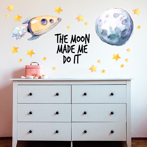 The Moon Made Me Do It Decal Set
