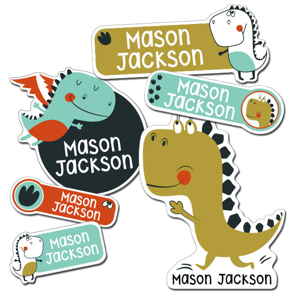 Dino Kiddie Label Pack