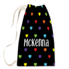 Rainbow Hearts Laundry Bag