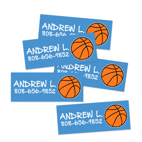 Basketball Rectangle Contact Labels