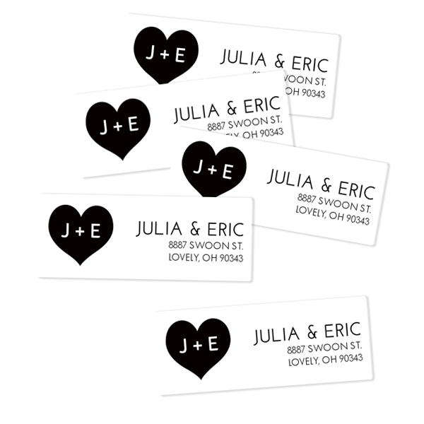 In Love Return Address Labels