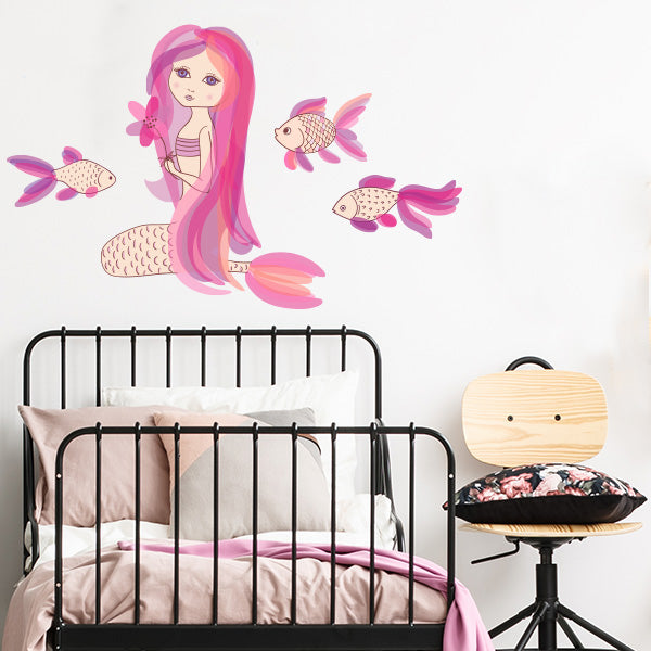 mermaid and friends decals – labeldaddy