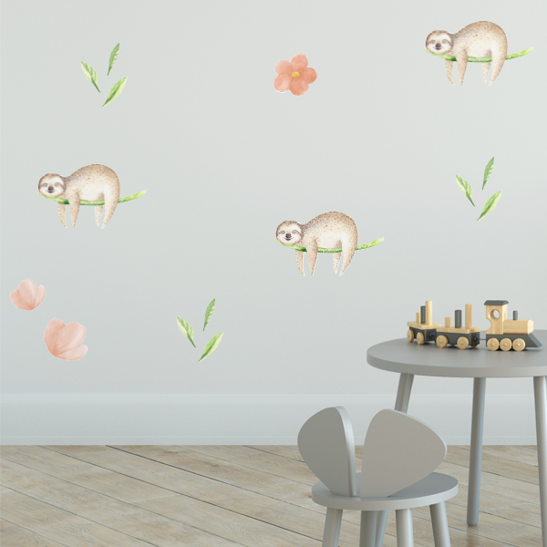 sloth dreams wall decal set – labeldaddy