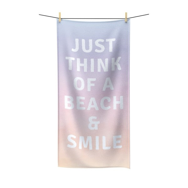 Smile More Beach Towel