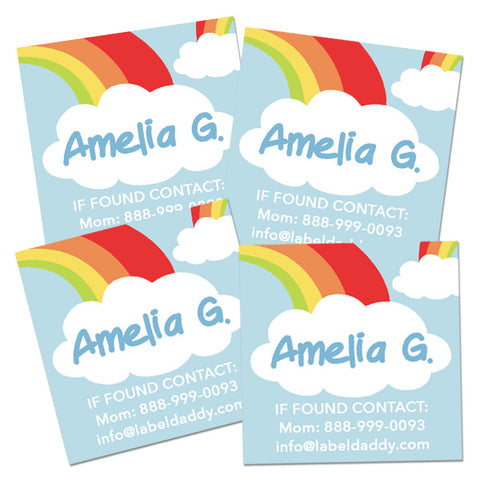 Rainbow Square Contact Labels