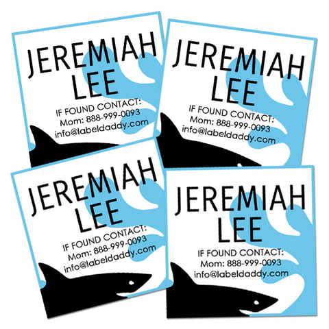 Shark Square Contact Labels