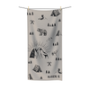 Muted Blush Brown Retro Camper Towel