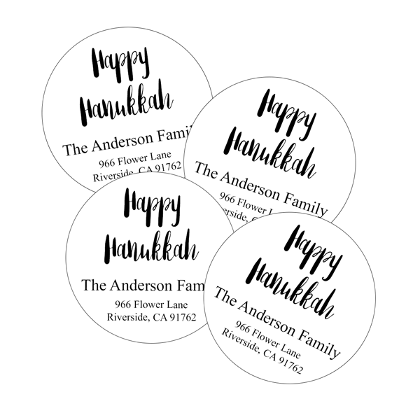 black white hanukkah return address labels labeldaddy