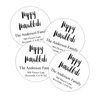 Black & White Hanukkah Return Address Labels