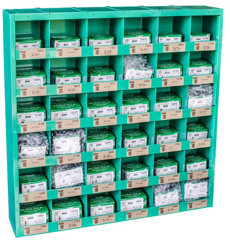 Metric Retainer Assortment In 36 Compartment Bin. Auveco 1054. Qty.  1 Assortment