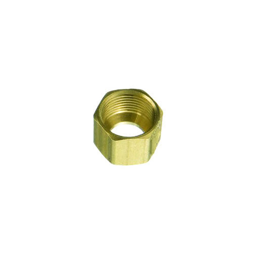 "Auveco # 114  Brass Fitting Compression Nut 3/8""."