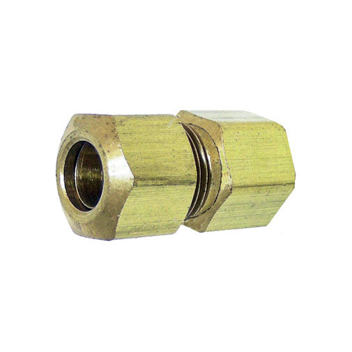 "Auveco # 135  Brass Female Connector 3/16"" Tube Size 1/8"" Threads."