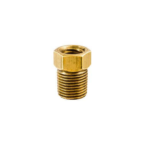 "Auveco # 198  Brass Male Connector 1/8"" Tube Size 1/8"" Threads."