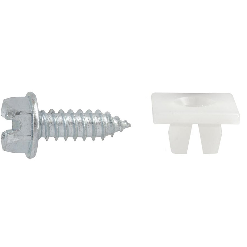 Auveco Item 23280 Slotted Hex Washer Head License Plate Screw & Nut Kit #14 X 3/4 Inch. Quantity 50