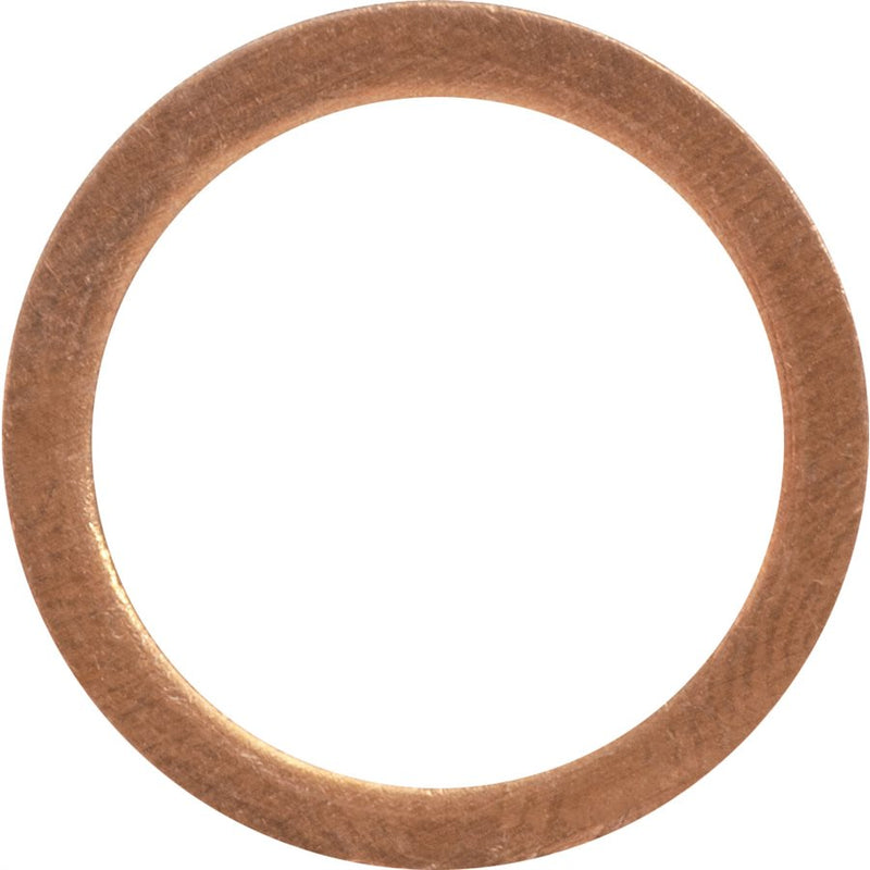 Auveco Item 23916 Copper Sealing Washer 12mm I.D. 16mm O.D.. Quantity 50
