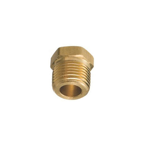 "Auveco # 297  Brass Hex Hd. Plug 3/8"" Pipe Threads."