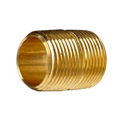 "Auveco # 307  Brass Close Nipple 1"" Length 3/8"" Thread."