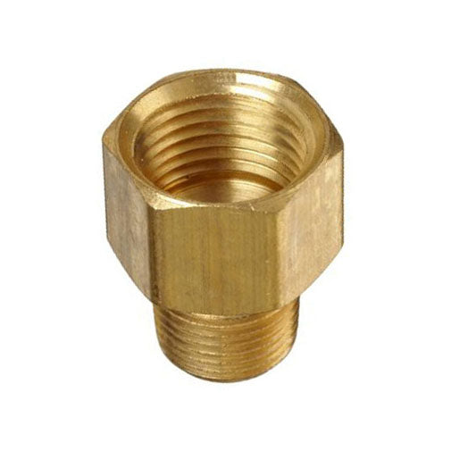 "Auveco # 326  Brass Adapter 1/4"" Threads A 1/8"" Threads B."