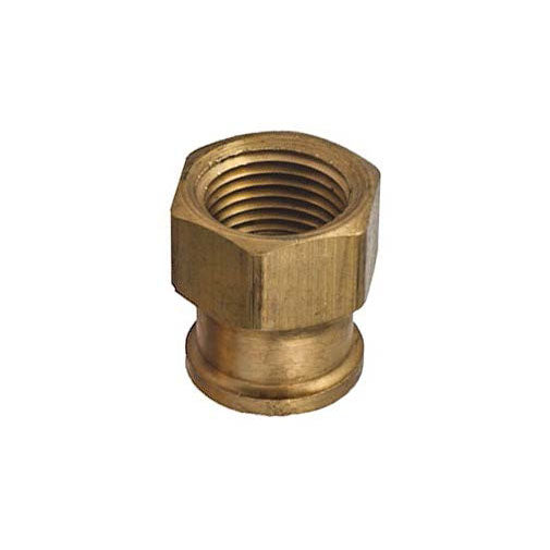 "Auveco # 337  Brass Reducing Coupling 3/8"" Threads A 1/4"" Threads B."