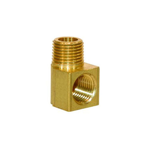 "Auveco # 343  90 Degree Brass Street Elbow 1/4"" Interior Threads 1/4"" Exterior Threads."