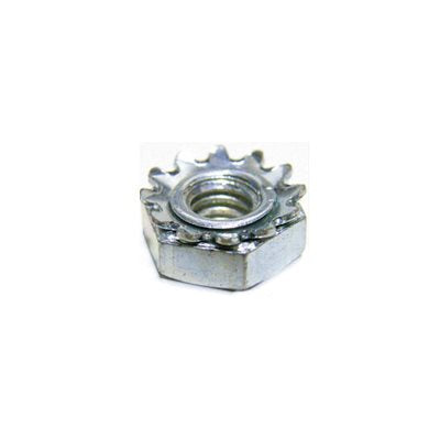 Auveco # 3494  10-24 Hex Keps Lock Washer And Nut Zinc.