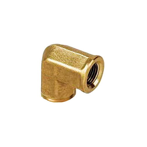 "Auveco # 351  Brass Pipe Elbow 1/4"" Interior Threads 1/4"" Exterior Threads."