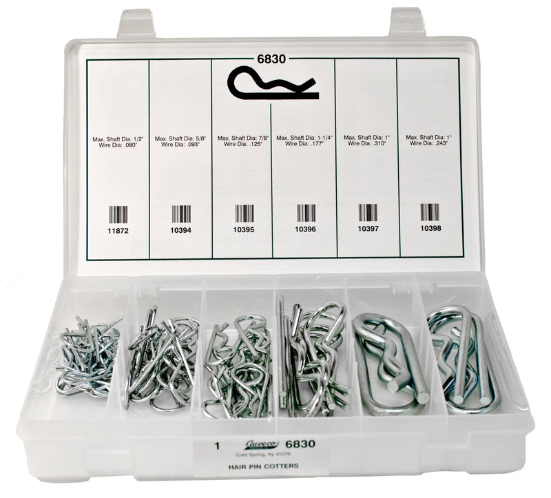 Hairpin Cotter Quik-Select Kit. Auveco 6830. Qty.  1 Assortment