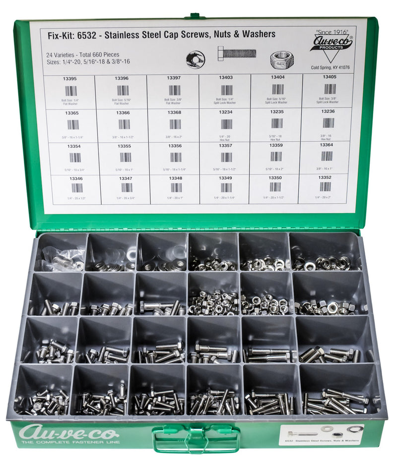 Auveco # 6532  Stainless Steel Cap Screw Nut And Washer Kit.