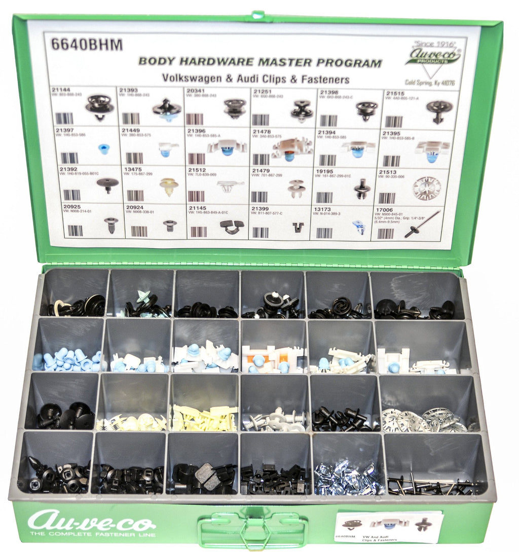 Volkswagen And Audi Clips And Fasteners. Auveco 6640BHM. Qty.  1 Assortment