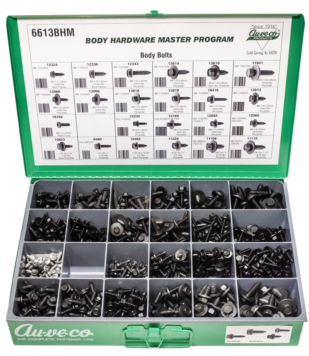 Auveco # 6613BHM  BHM Assortment Black Body Bolts.