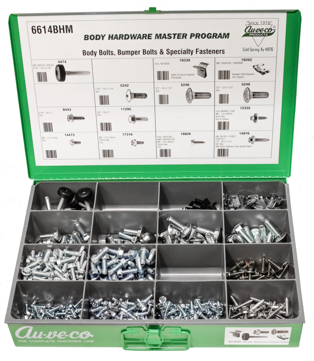 Auveco # 6614BHM  BHM Assortment Zinc Body Bolts, Bumper Bolts And Specialty Fasteners.