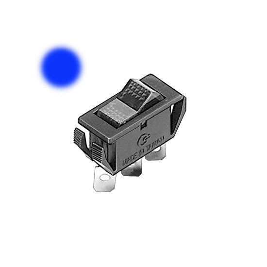 Auveco # 13531  Illuminated Rocker Switch-Blue.
