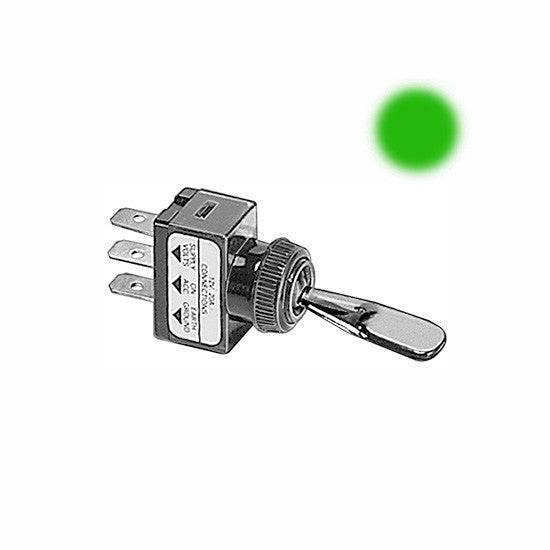 Auveco # 13524  Illuminated Toggle Switch-Green.
