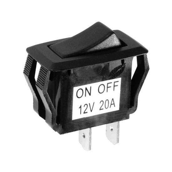 "Auveco # 13528  Rocker Switch 2 Position Fits 1-1/8"" X 7/16"" Hole."