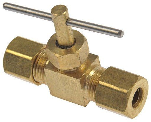 "Auveco # 385  Brass Compression Line 1/4"" Tube Size."
