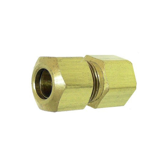 "Auveco # 137  Brass Female Connector 5/16"" Tube Size 1/8"" Threads."