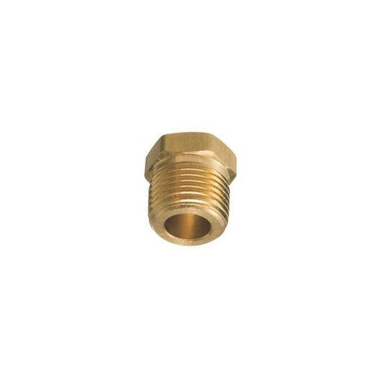 "Auveco # 298  Brass Hex Hd. Plug 1/2"" Pipe Threads."