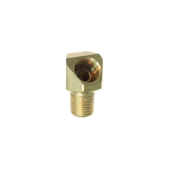 "Auveco # 91  Brass Male Elbow 1/4""."