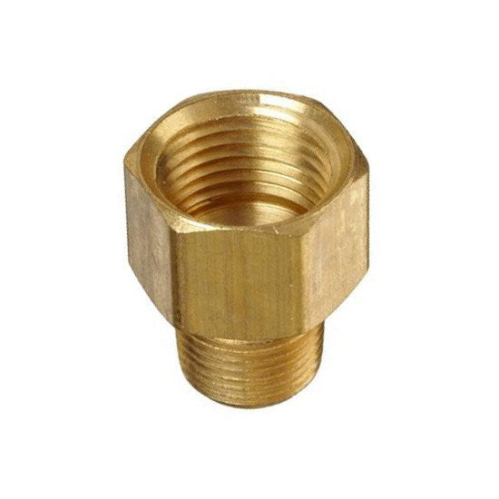 "Auveco # 330  Brass Pipe Adapter 1/2"" X 3/8"" Threads."