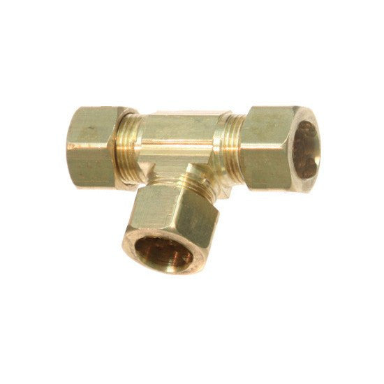 "Auveco # 187  Brass Union Tee 1/4"" Tube Size."